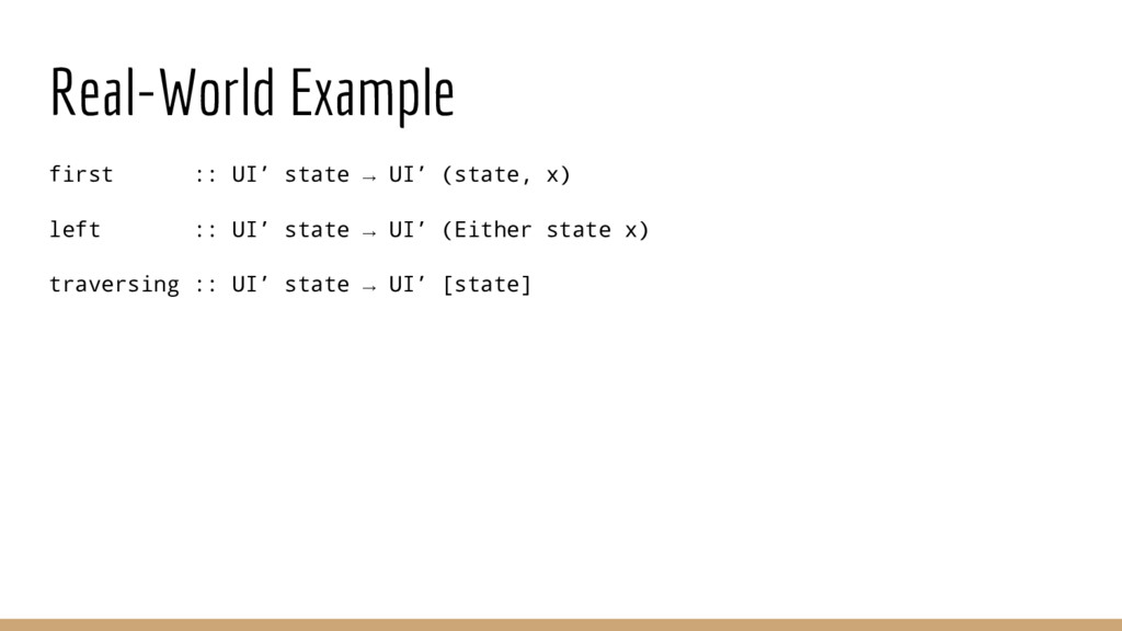 Real-World Example first :: UI' state → UI' (st...