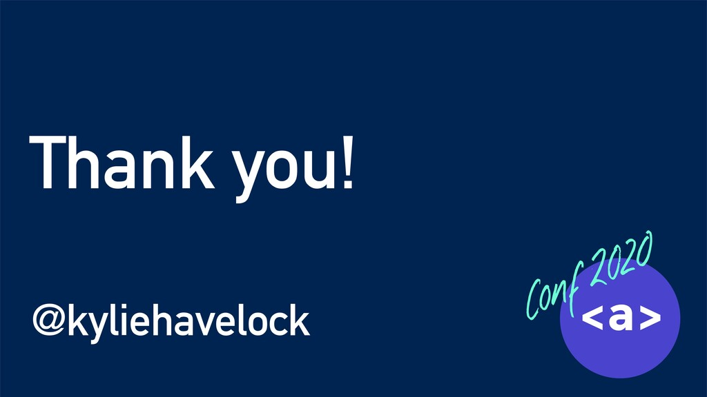 Thank you! @kyliehavelock