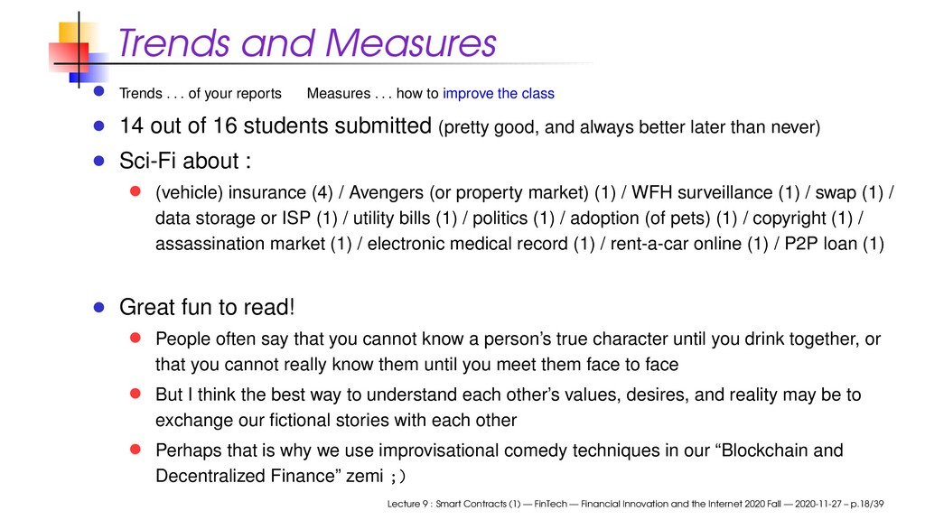 Trends and Measures Trends . . . of your report...