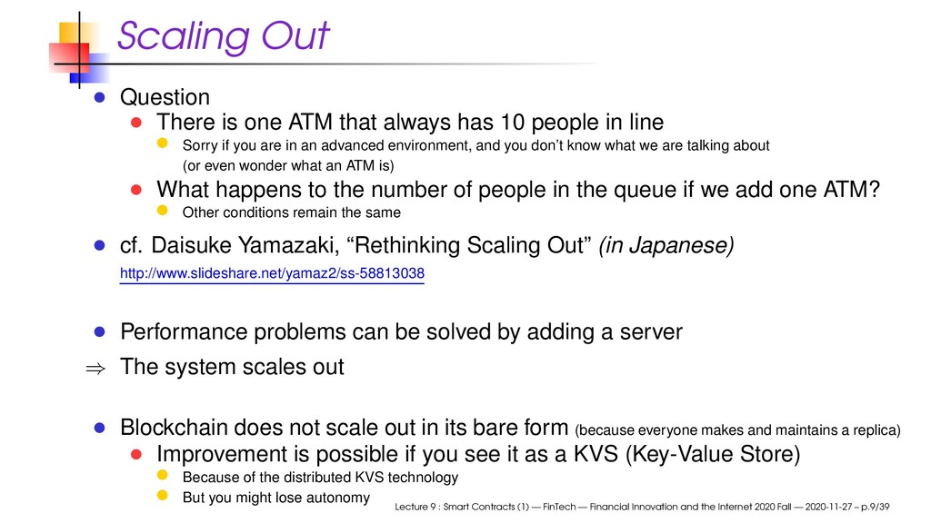 Scaling Out Question There is one ATM that alwa...