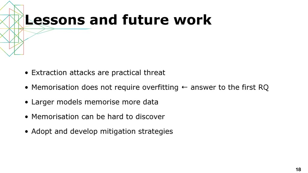 • Extraction attacks are practical threat   • M...