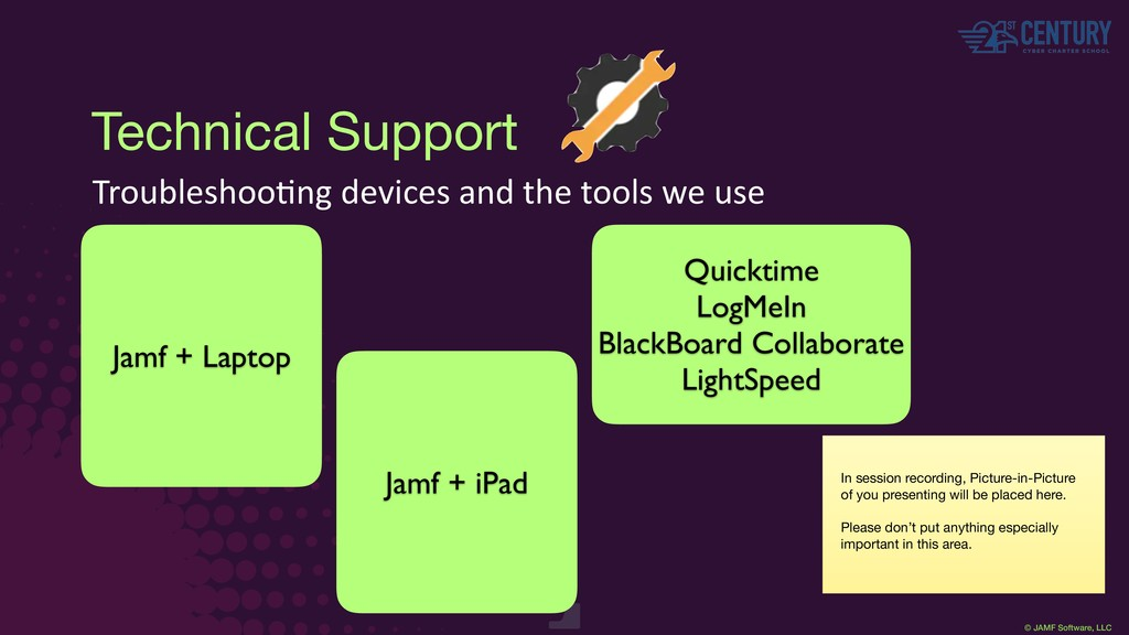 © JAMF Software, LLC Technical Support Troubles...