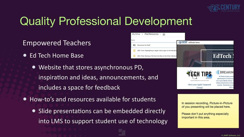 © JAMF Software, LLC Empowered Teachers Ed Tech...