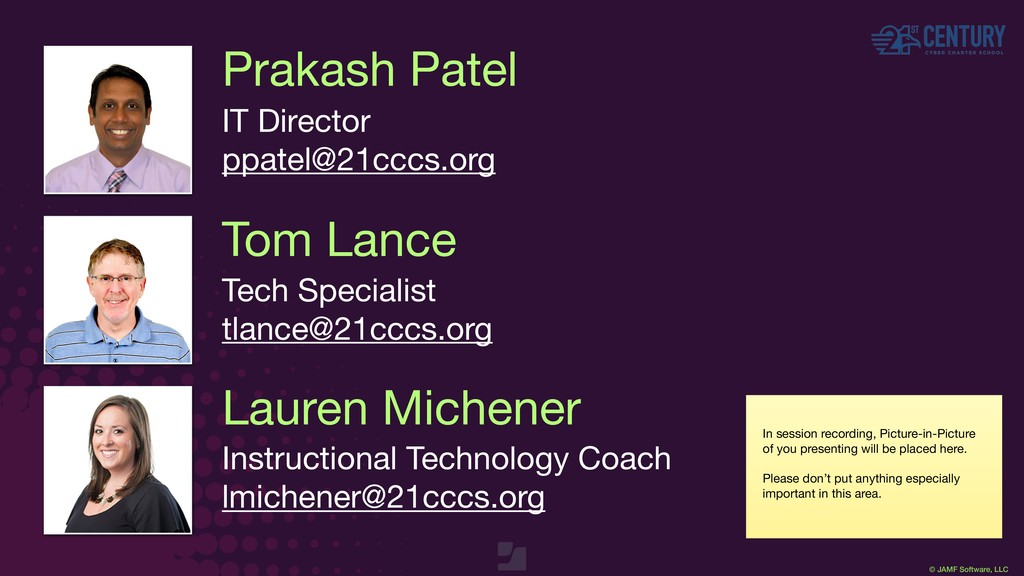 © JAMF Software, LLC Prakash Patel IT Director ...