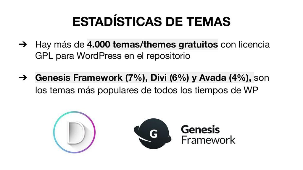 ESTADÍSTICAS DE TEMAS ➔ Hay más de 4.000 temas/...