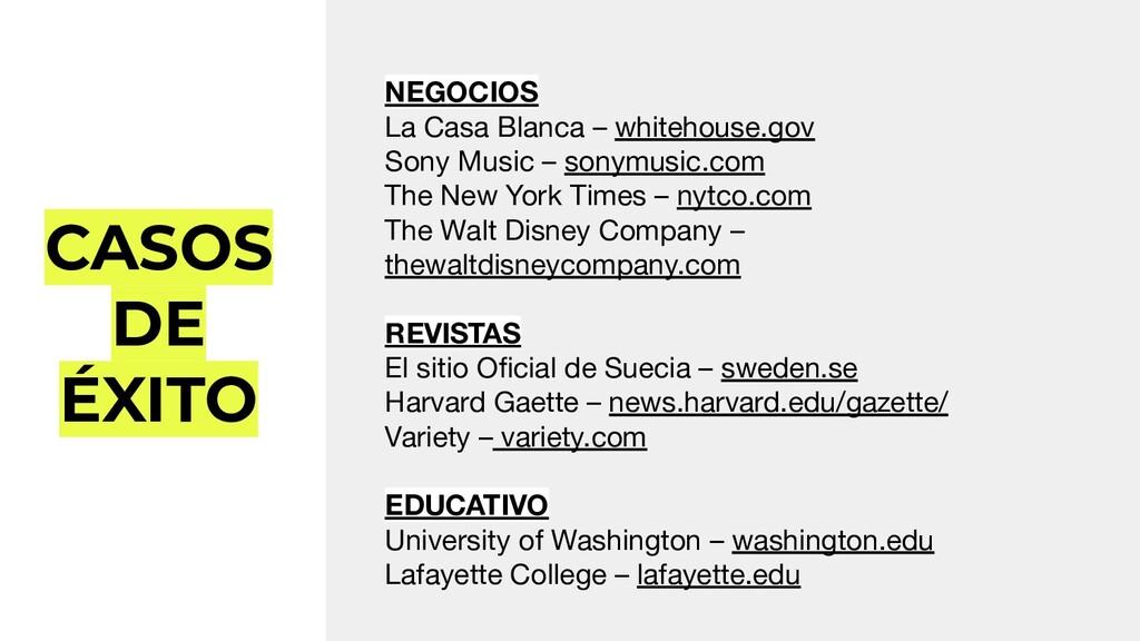 CASOS DE ÉXITO NEGOCIOS La Casa Blanca – whiteh...