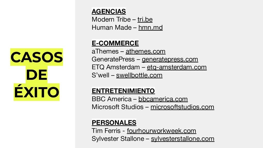 CASOS DE ÉXITO AGENCIAS Modern Tribe – tri.be H...