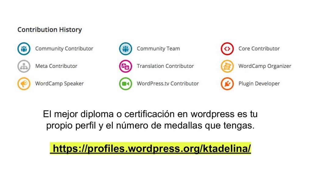 El mejor diploma o certificación en wordpress e...