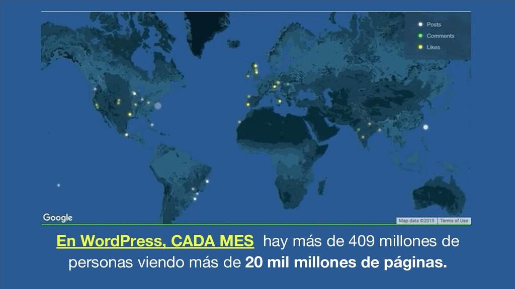 En WordPress, CADA MES hay más de 409 millones ...