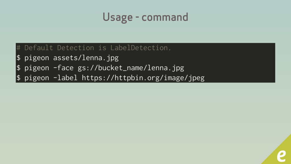 Usage - command # Default Detection is LabelDet...