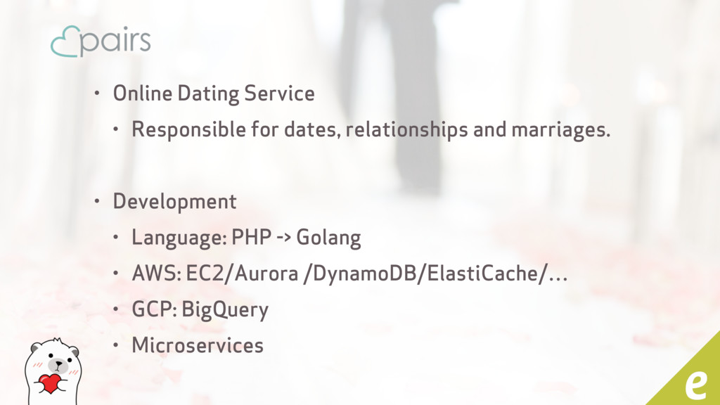 • Online Dating Service • Responsible for dates...