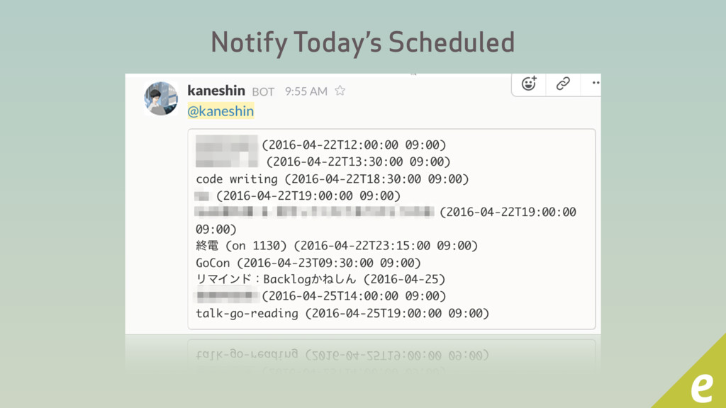 Notify Today's Scheduled