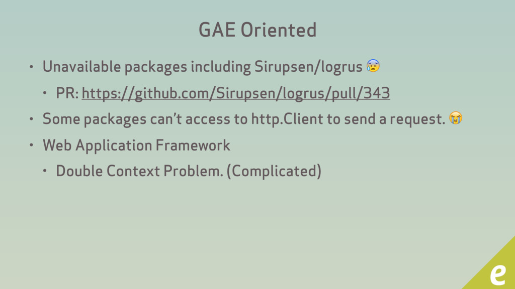 GAE Oriented • Unavailable packages including S...