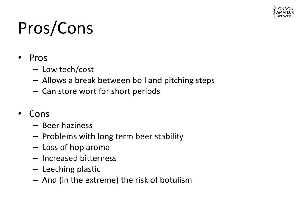 Pros/Cons • Pros – Low tech/cost – Allows a bre...