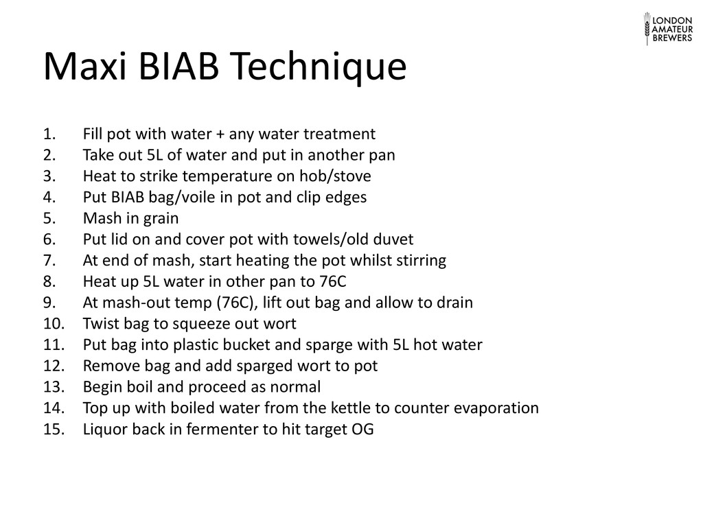 Maxi BIAB Technique 1. Fill pot with water + an...