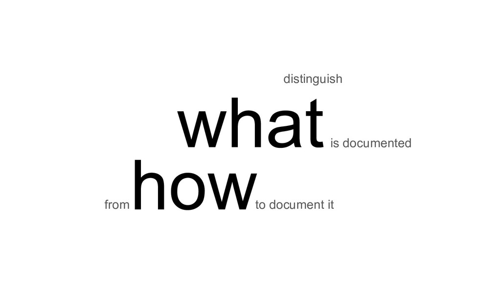 what distinguish is documented how to document ...