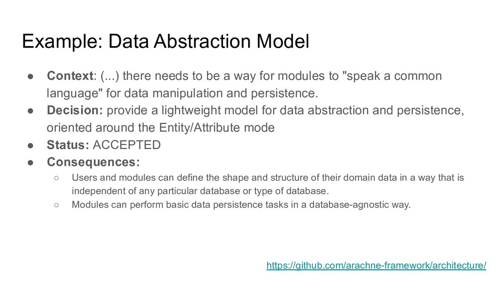 Example: Data Abstraction Model ● Context: (......