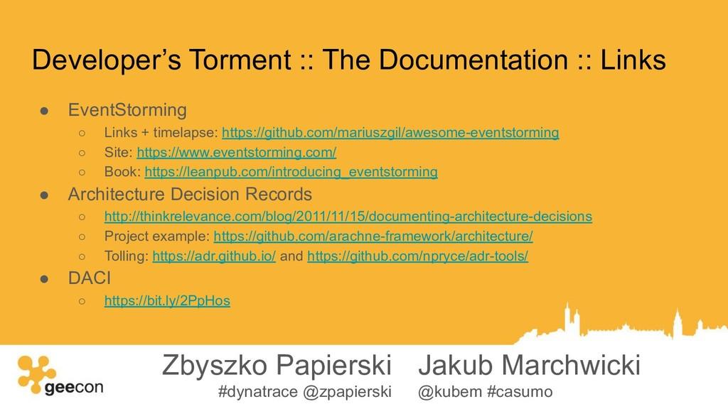 Developer's Torment :: The Documentation :: Lin...
