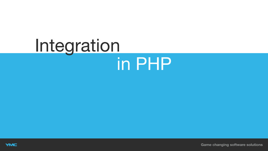 in PHP Integration