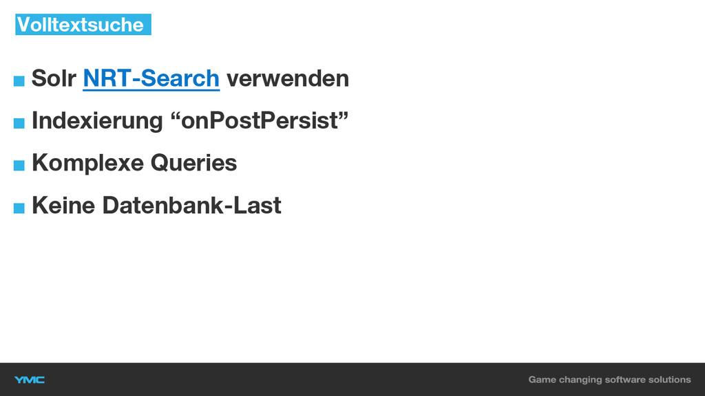 """■ Solr NRT-Search verwenden ■ Indexierung """"onPo..."""