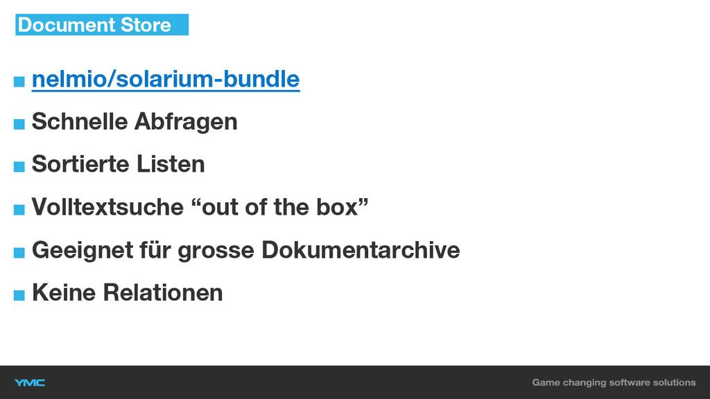 ■ nelmio/solarium-bundle ■ Schnelle Abfragen ■ ...