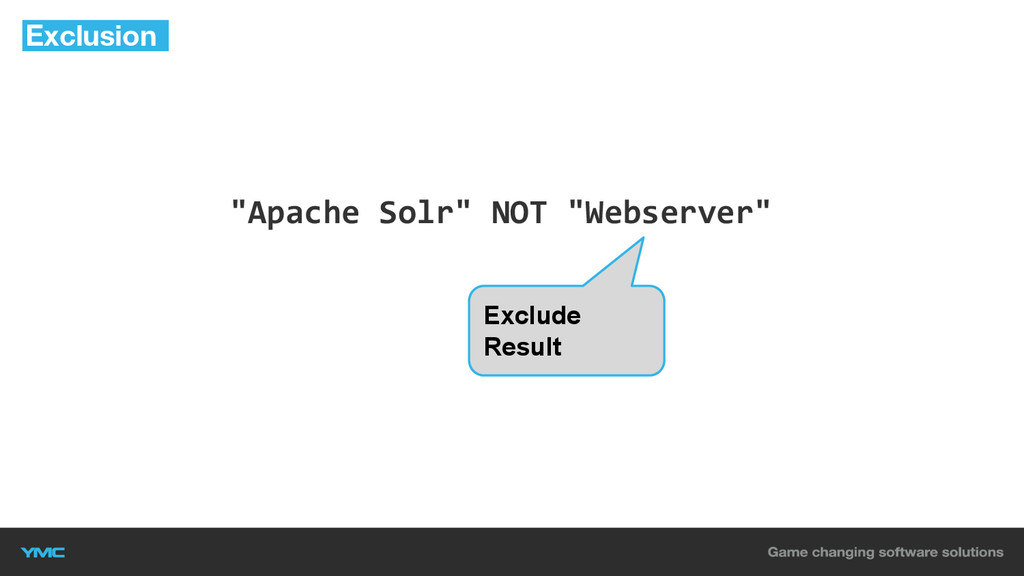 """""""Apache Solr"""" NOT """"Webserver"""" Exclusion Exclude..."""