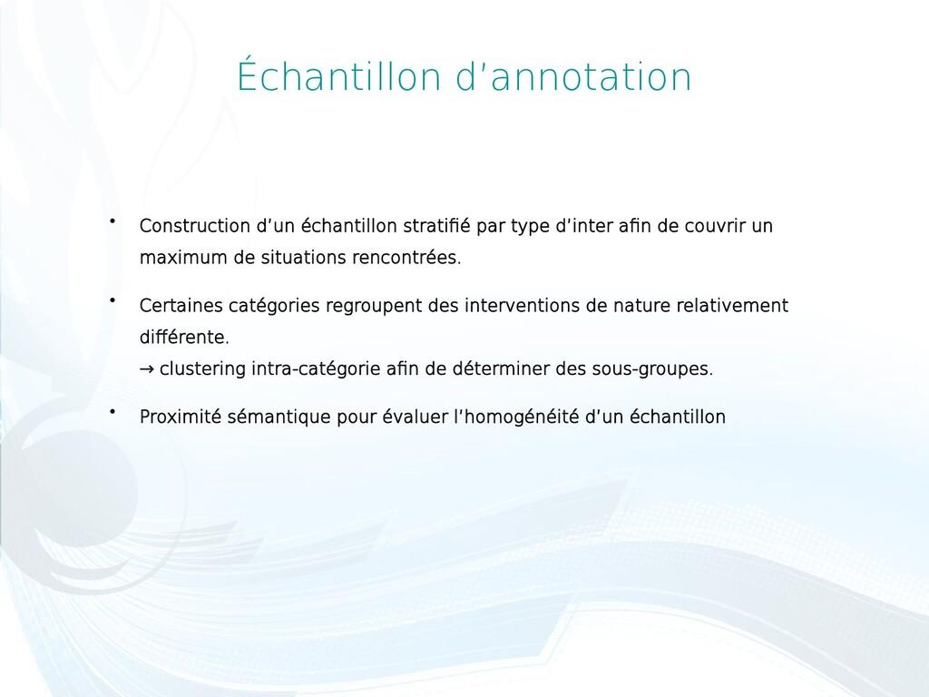 Échantillon d'annotation  Construction d'un éc...