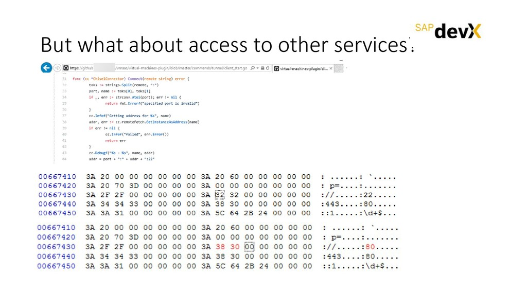 But what about access to other services?