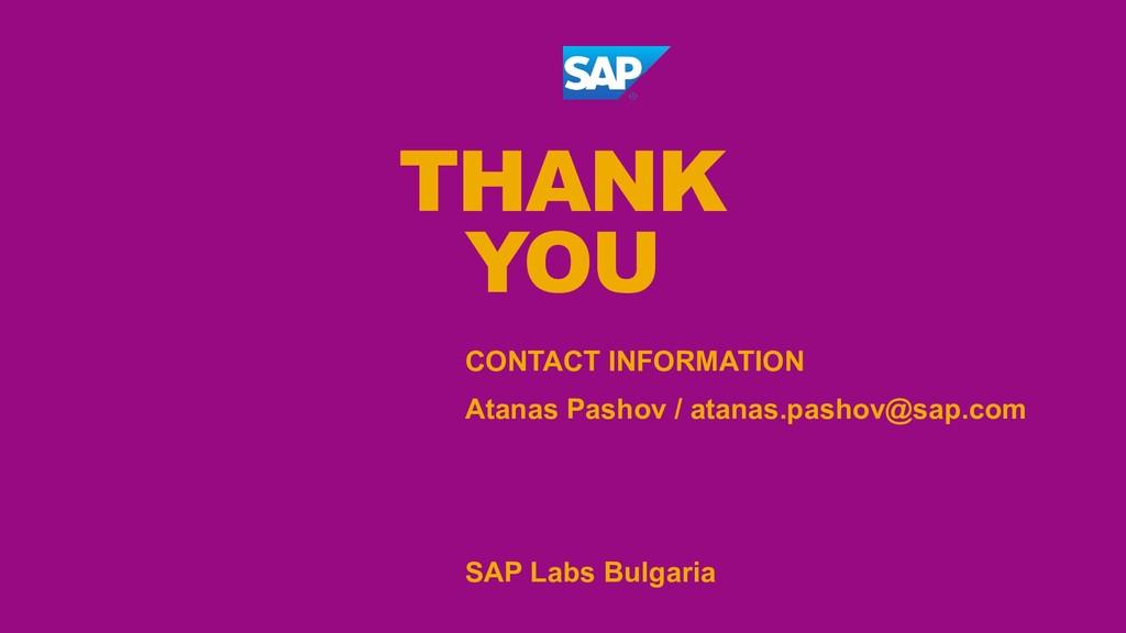 CONTACT INFORMATION Atanas Pashov / atanas.pash...