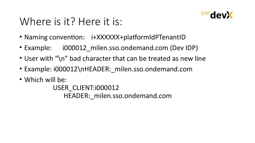 Where is it? Here it is: • Naming convention: i...