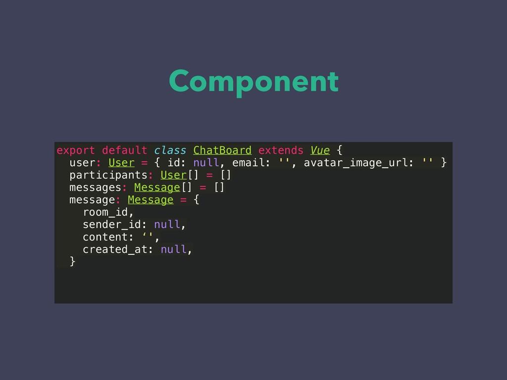 Component export default class ChatBoard extend...