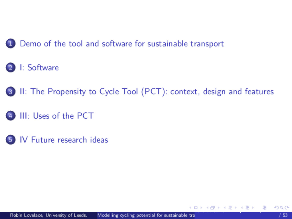 1 Demo of the tool and software for sustainable...