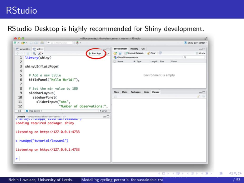 RStudio RStudio Desktop is highly recommended f...