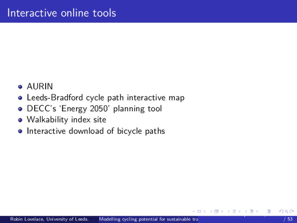 Interactive online tools AURIN Leeds-Bradford c...
