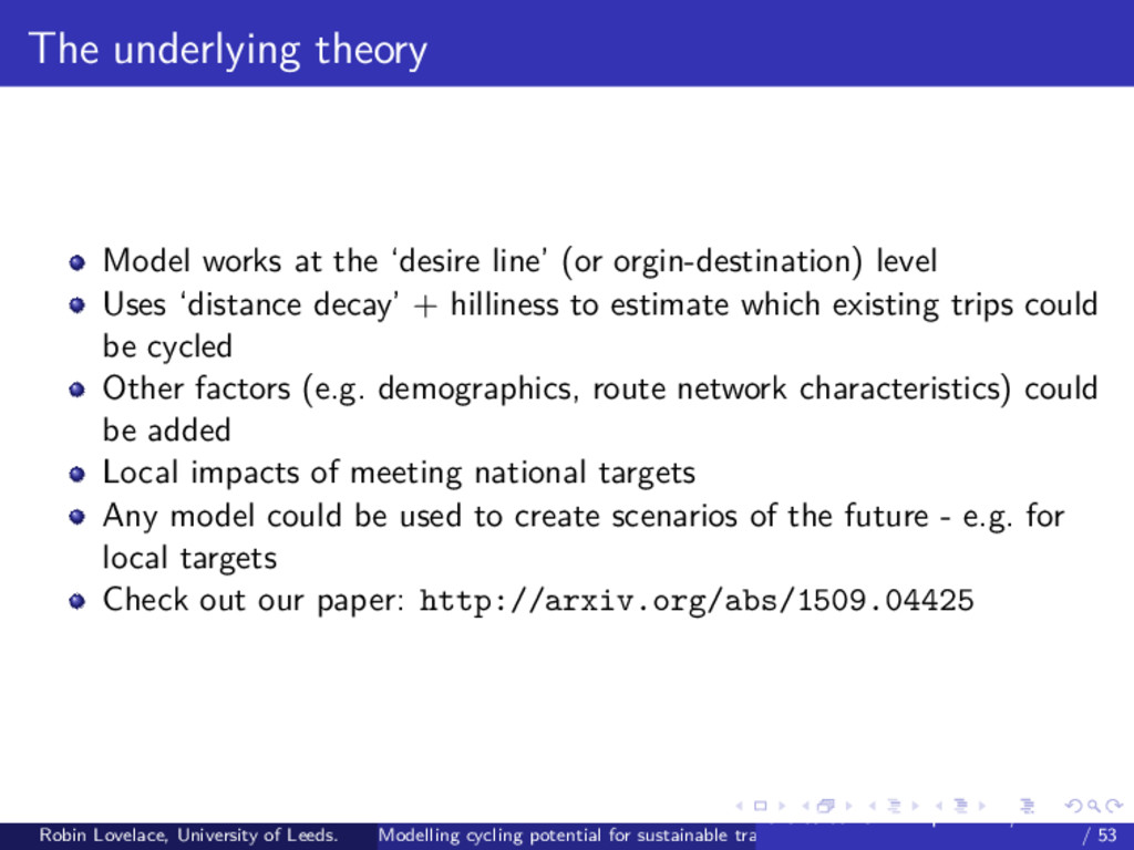 The underlying theory Model works at the 'desir...
