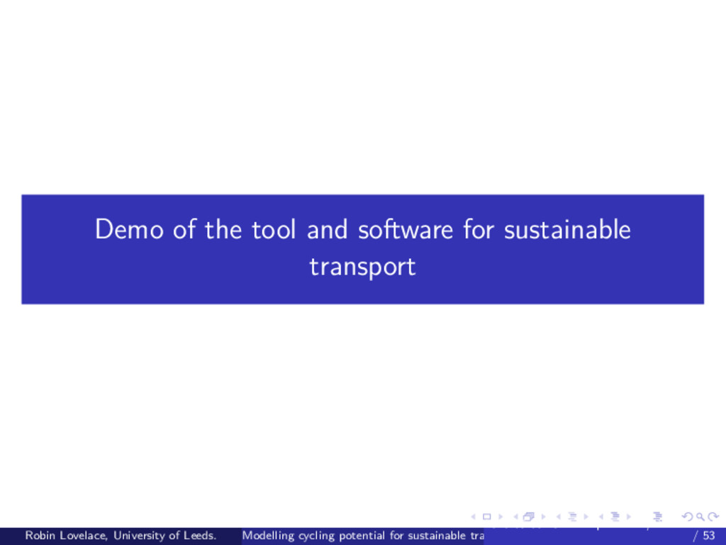 Demo of the tool and software for sustainable t...