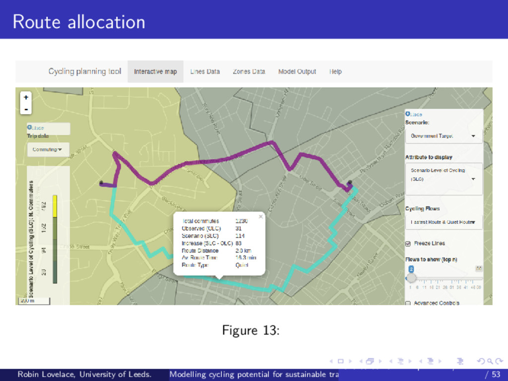 Route allocation Figure 13: Robin Lovelace, Uni...