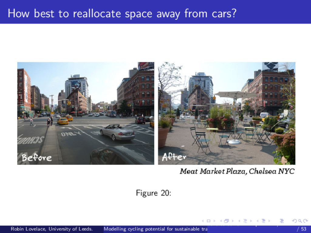 How best to reallocate space away from cars? Fi...