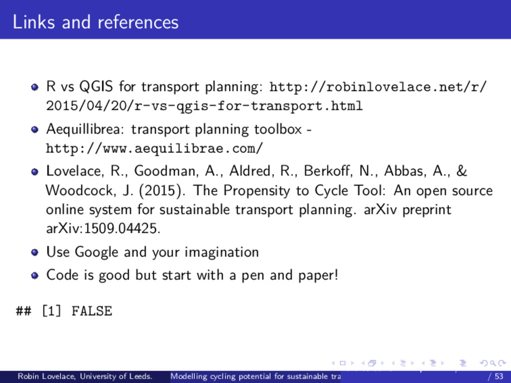 Links and references R vs QGIS for transport pl...