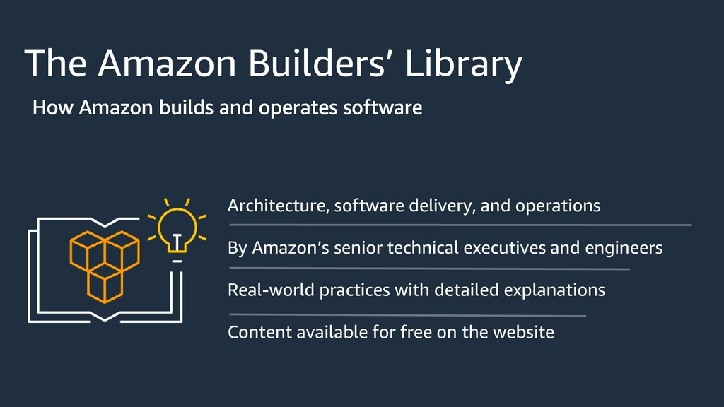 The Amazon Builders' Library Architecture, soft...