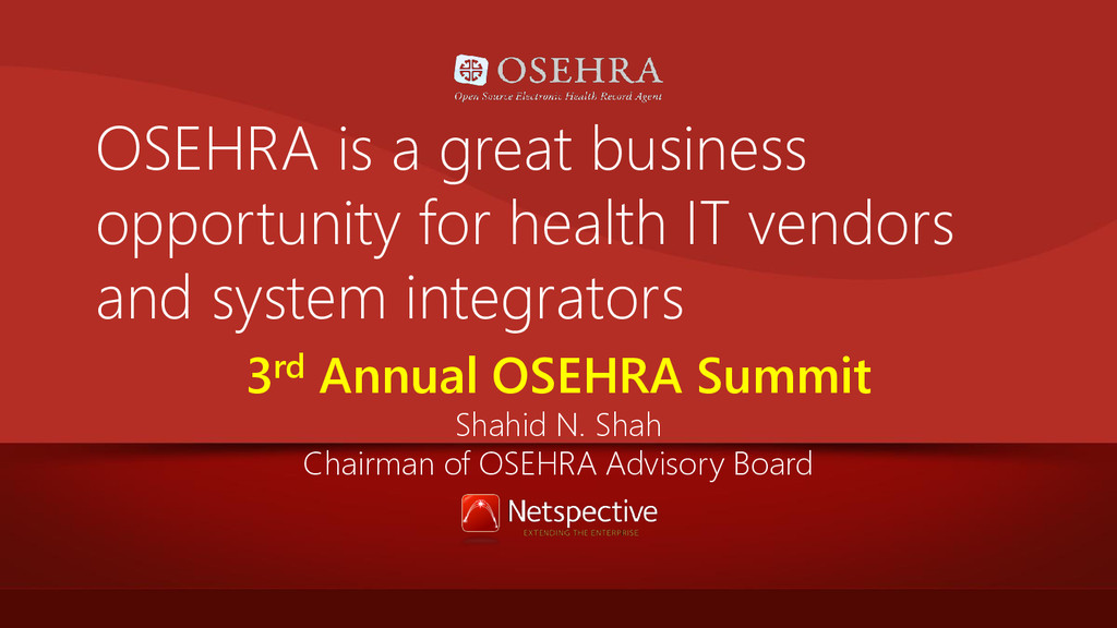 OSEHRA is a great business opportunity for heal...