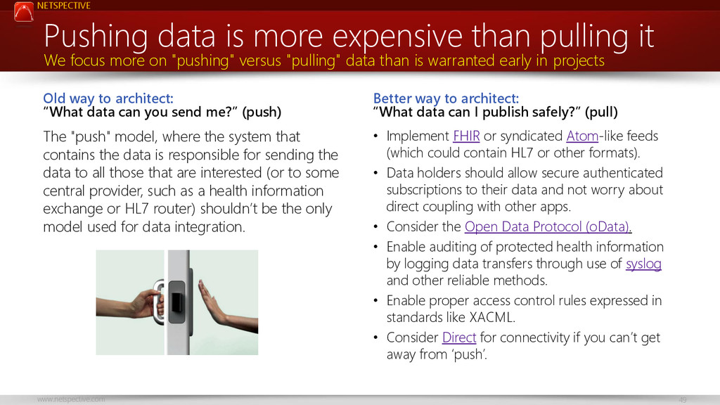 NETSPECTIVE www.netspective.com 49 Old way to a...