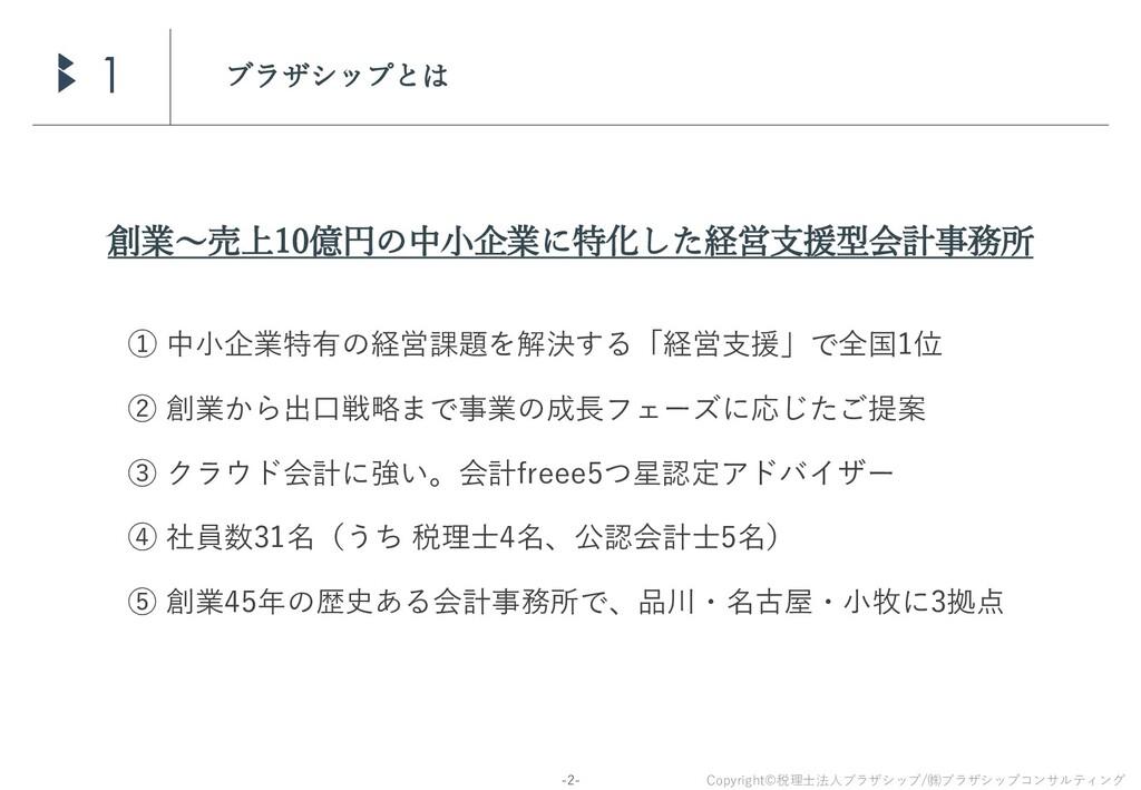 Copyright©税理士法人ブラザシップ/㈱ブラザシップコンサルティング -2- ブラザシッ...