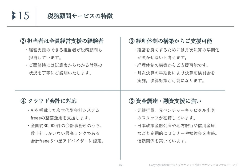 Copyright©税理士法人ブラザシップ/㈱ブラザシップコンサルティング -16- 税務顧問...
