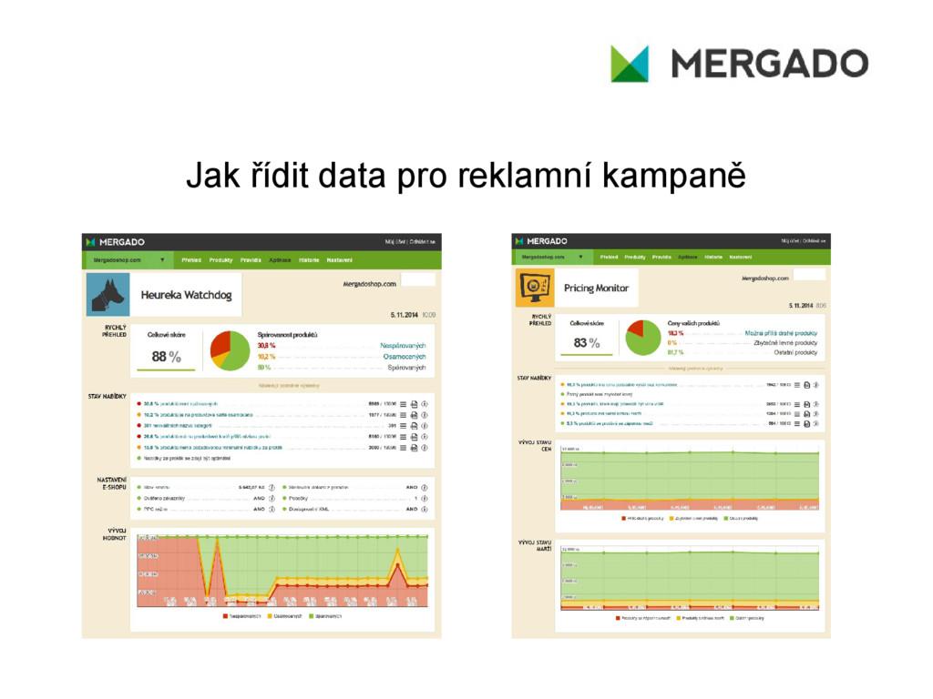Jak řídit data pro reklamní kampaně