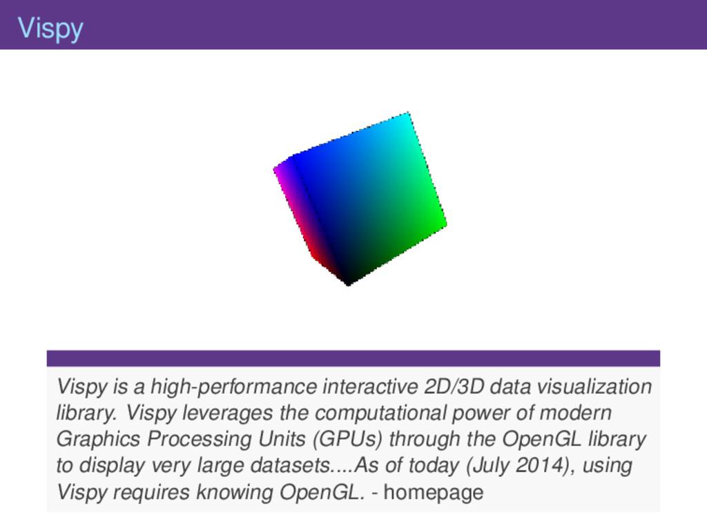 Vispy Vispy is a high-performance interactive 2...