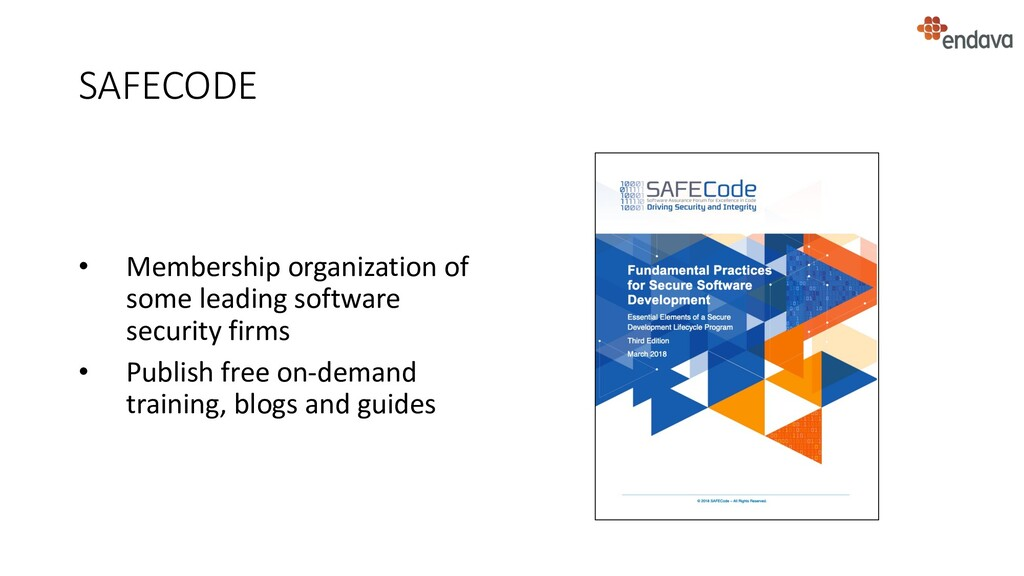 SAFECODE • Membership organization of some lead...