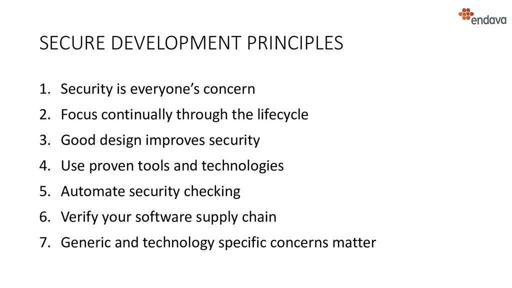 SECURE DEVELOPMENT PRINCIPLES 1. Security is ev...