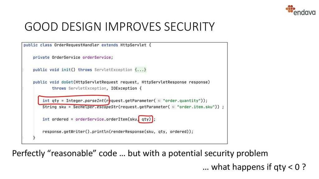 """GOOD DESIGN IMPROVES SECURITY Perfectly """"reason..."""
